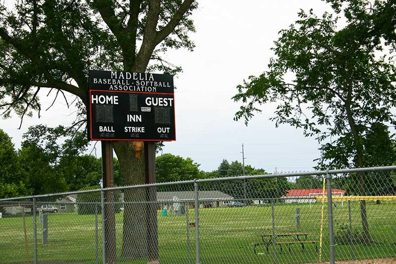 Madelia park baseball scoreboard